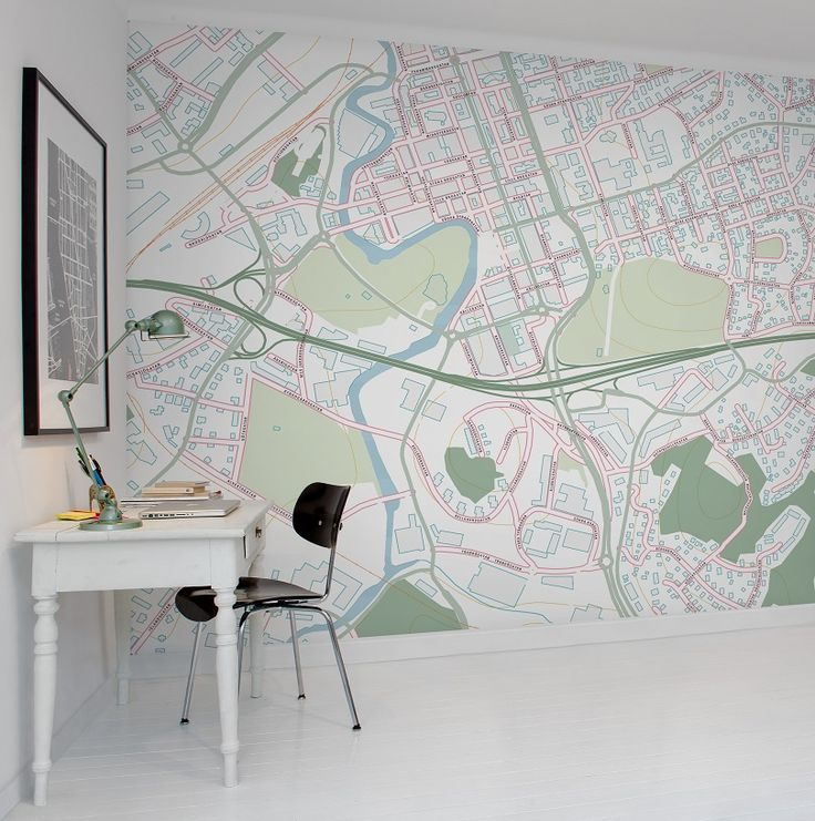 ... als behang - maps as wallpaper on Pinterest  Design, Travel and Met
