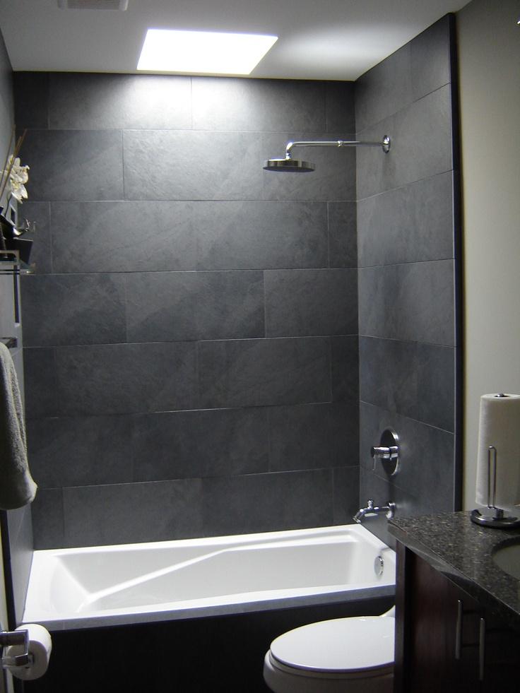 Bathroom Extraordinary Skylights For Bathroom Design With Grey Stone Tile Bathroom Wall Along With Steel Shower Heads And Glass Shower Door