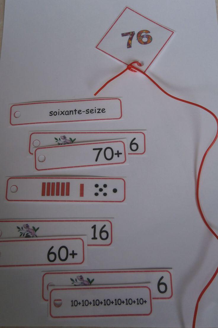 Atelier math CP/CE1 - Manipuler Les nombres de 60 à 79