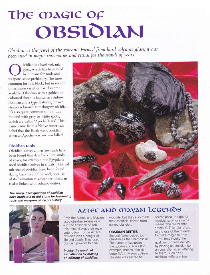 Crystals & Stones: The Magic of #Obsidian.