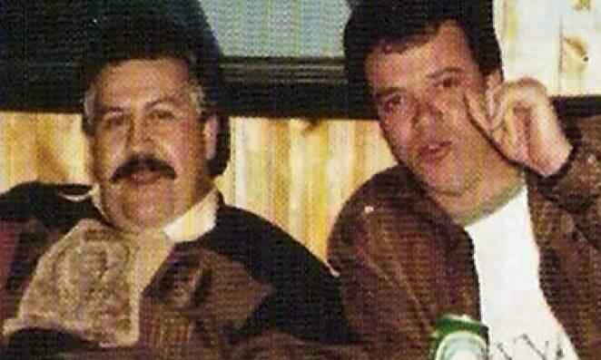 Pablo Escobar with John Jairo Velásquez, known as Popeye.