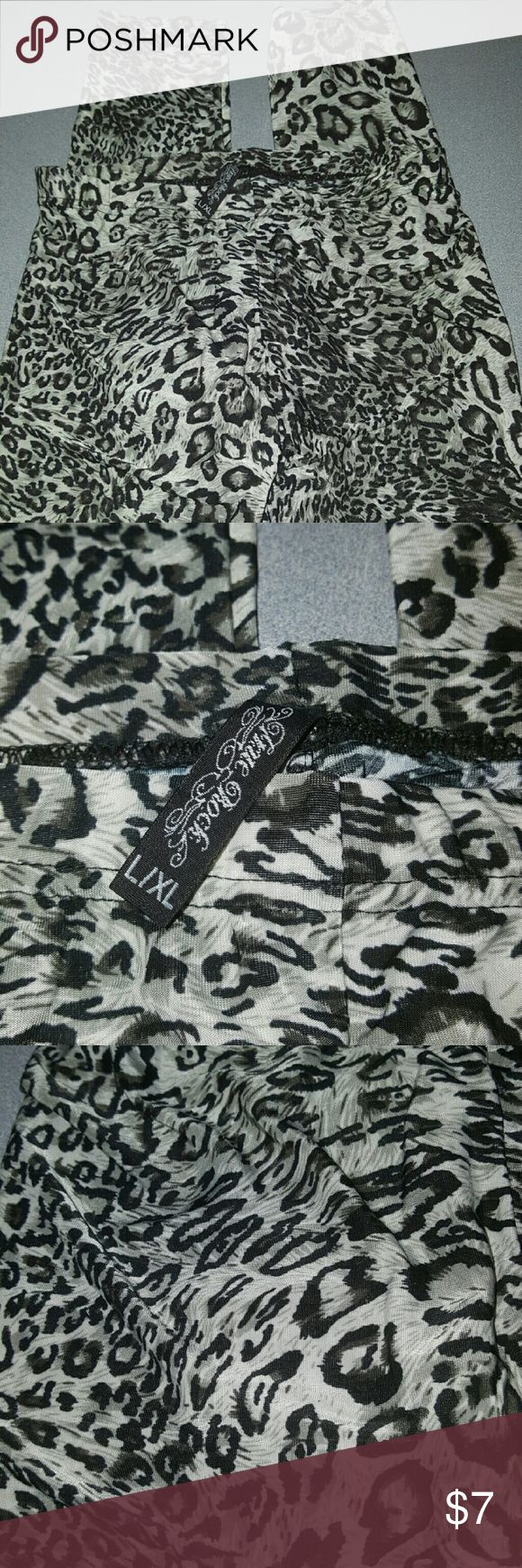 Cheetah Print Leggings Very thin and light, Perfect for Spring, New without tags, never worn L/XL Pants Leggings