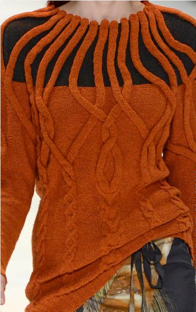 A study in orange chenille Designed by: Sydney Institute  S/S 13.