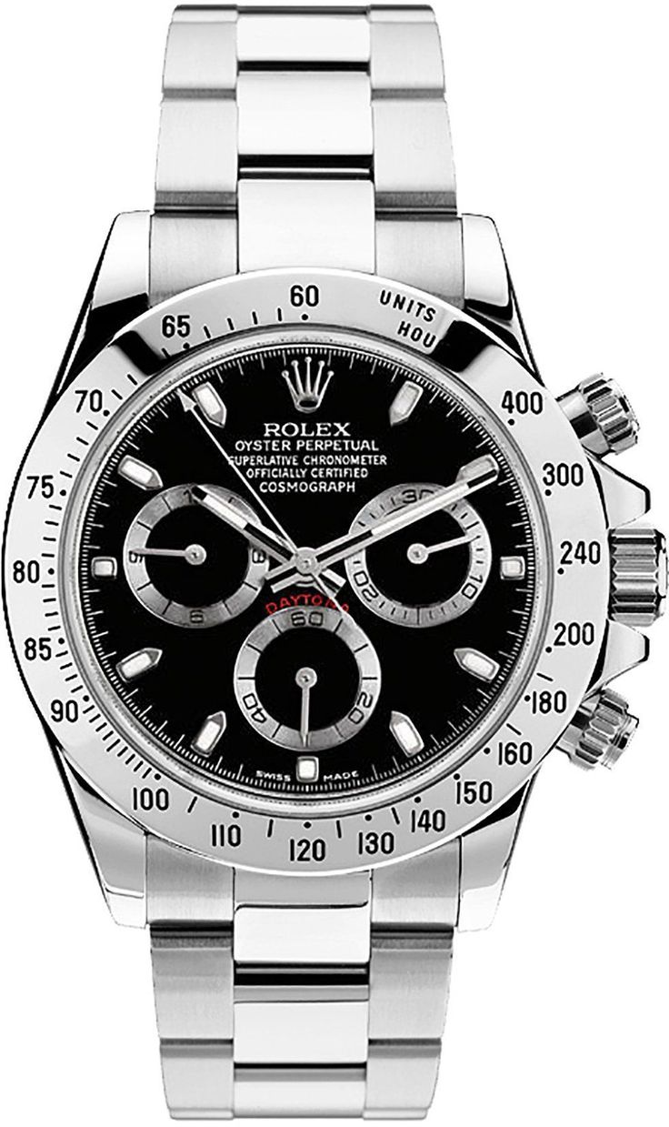 Rolex 116520 Cosmograph Daytona Stainless Steel Black Dial Men's 40mm Chronograph