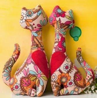 creatief besparen en meer: katjes van stof