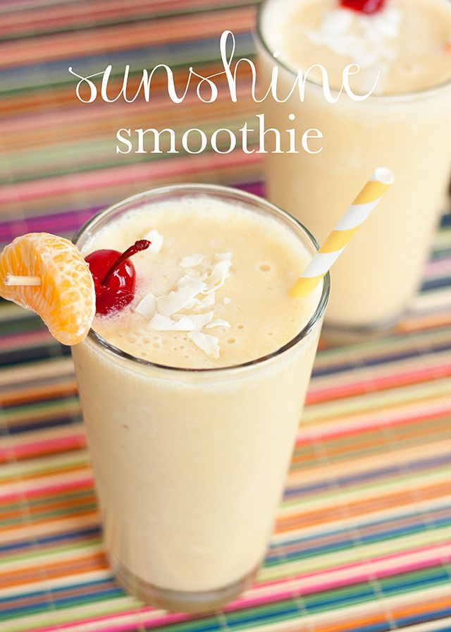 sunshine smoothie {mix it up} - Circus Berry