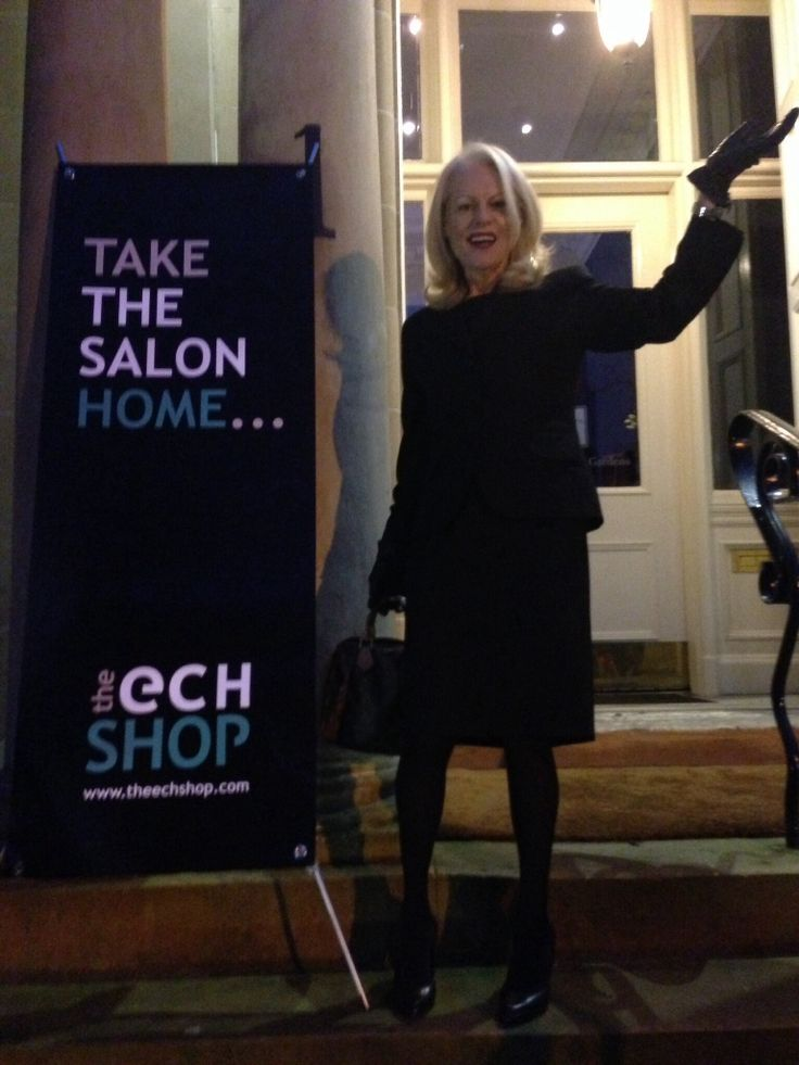 Ellen welcomes our visitors to the Christmas Fayre at Hotel Du Vin Glasgow.