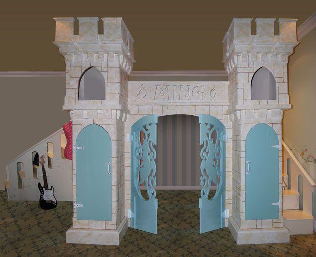 219 best bedroom images on pinterest bedroom ideas for Princess castle bedroom ideas