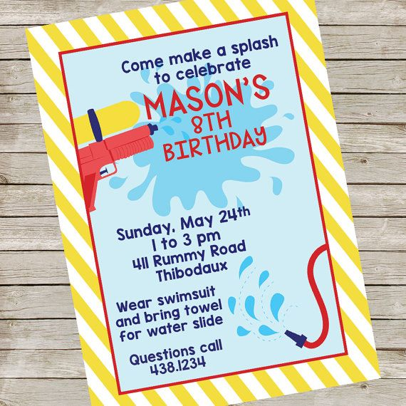 the 25+ best water party invitations ideas on pinterest | water, Party invitations