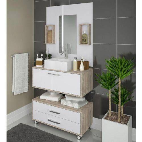 Conjunto De Banheiro Completo Mdf Balcao Painel Cuba Sem Espelho Banheiro Completo Balcao Para Banheiro E Armario Banheiro