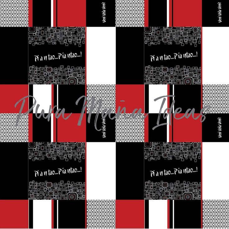 Diseño excluivo de Pura Maña Ideas, de la linea TANGO, textil PIANTAO