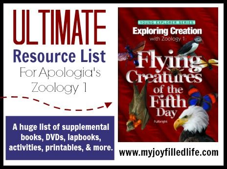 Ultimate Resource List for Apologia's Zoology 1 - A HUGE list of supplemental books, DVDs, lapbooks, activities, printables, and more.