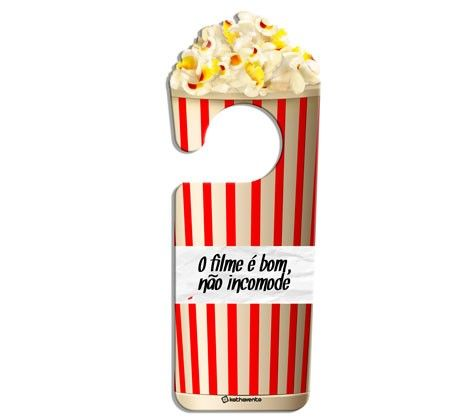 Aviso de Porta Filme de Plástico - 23 cm x 8 cm