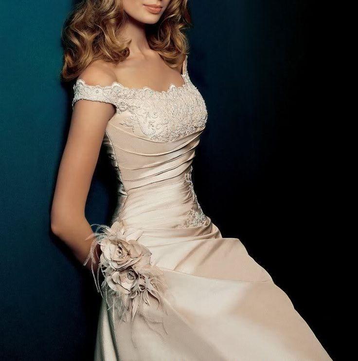 2015 White/Ivory Champagne Wedding Dress Bridal Gown Custom Size 4-6-8--16-18+++