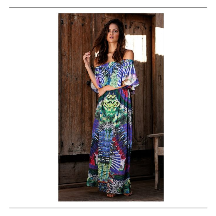 Cold shoulder 4 way maxi dress by She