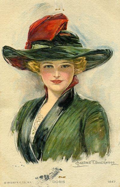Vintage postcard (illustration by Clarence F. Underwood)