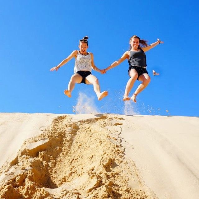 // a u s t r a l i a //  Fun in the sand at UltimateOz basecamp. Photo taken by ultimate.travel on Instagram