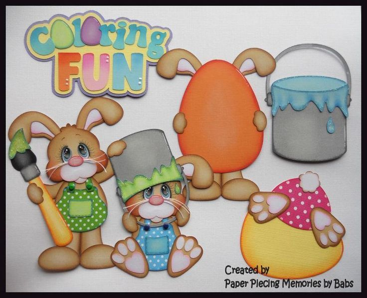 Easter Bunny Set Premade Paper Piecing Die Cut for Scrapbook Page byBabs | Crafts, Scrapbooking & Paper Crafts, Pre-Made Pages & Pieces | eBay!