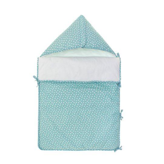 Sleep sack in sky blue cotton with star print
