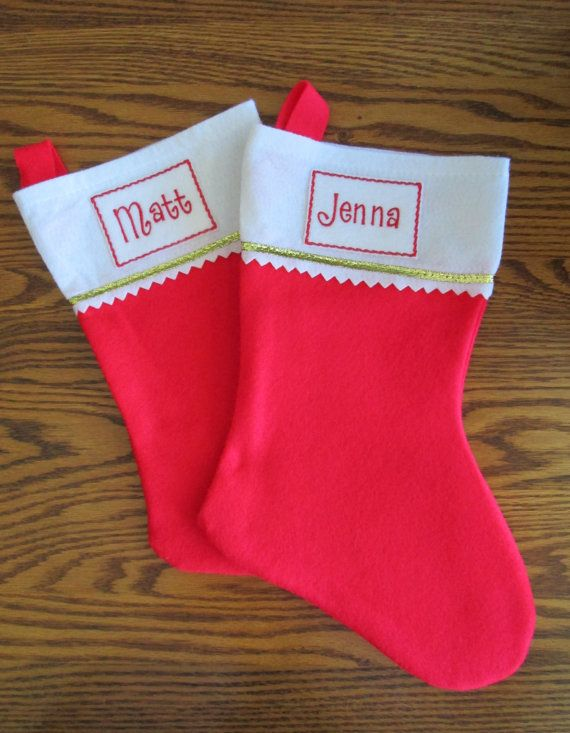 Its time to get an early start on holiday decorating! An easy way to personalize your stockings and make them look beautiful for the Christmas. Each