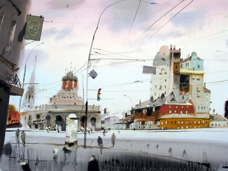 watercolor by alexander votsmush