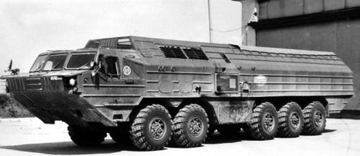BAZ-69841M. An experimental missile carrier from 1987