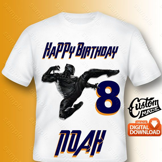Personalize Black Panther Birthday Shirt