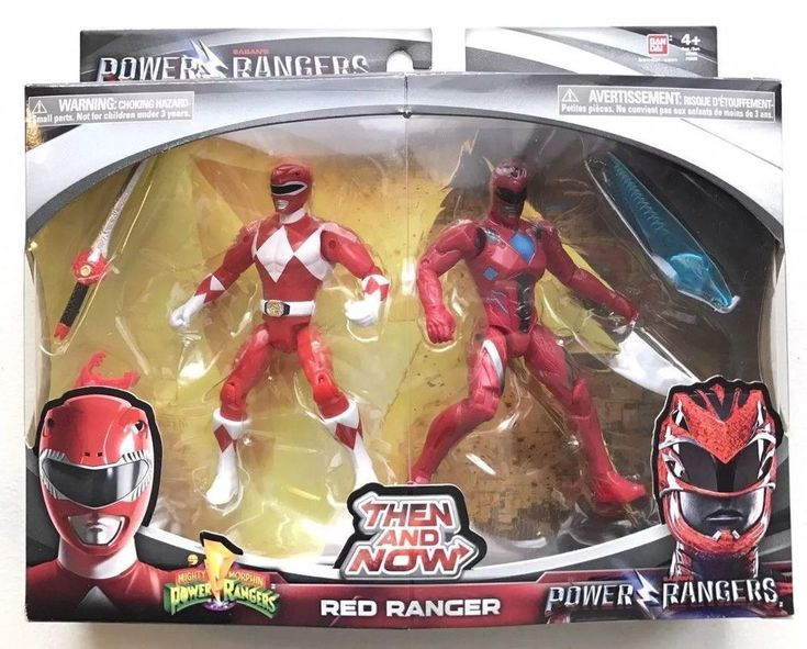 Power Rangers Then and Now Red Ranger Action Figures Set 2017 Bandai NEW  #Bandai