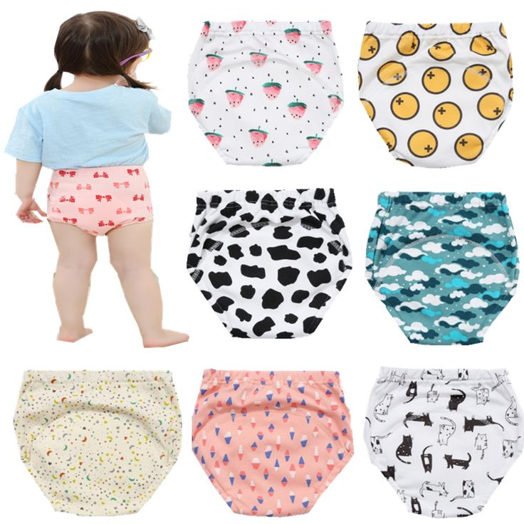 1Pcs 4 Layers Baby Diapers Reusable Cloth Nappies Waterproof  Cotton Training Pants  Washable