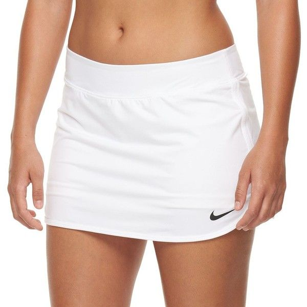 Women's Nike Pure Dri-FIT Tennis Skort, Size: M, White ($37) ❤ liked on Polyvore featuring activewear, activewear skirts, white, white skort, white golf skirt, white tennis skirt, nike and nike skort