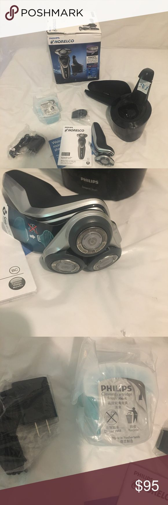 NEW philips norelco mens shaver My husband & I own an online women's boutique & a small liquidation company so make sure to check out our other listings!!  Item is in new unused condition in an open box. All pieces are included. Please note Box may show signs of damage due to Shipping, storage, and retailer stickers being removed. Accessories