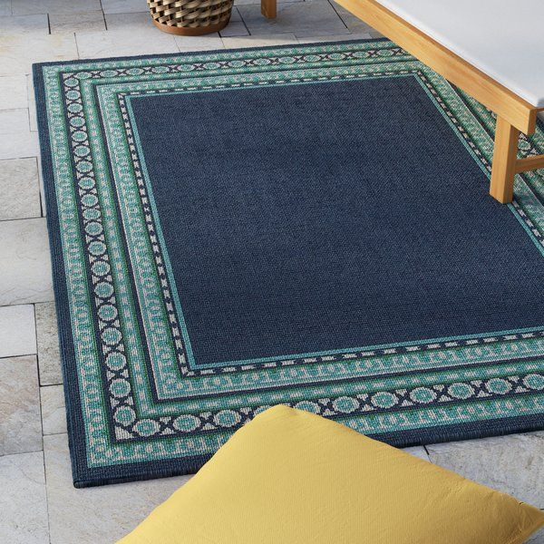 You Ll Love The Kailani Navy Green Indoor Outdoor Area Rug At Wayfair Great Deals On All Rugs Produ Outdoor Area Rugs Navy And Green Indoor Outdoor Area Rugs
