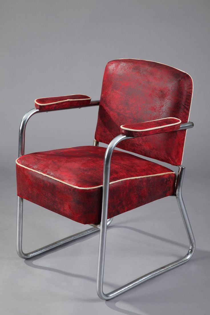 Marcel Breuer Bauhaus Tubular ChromedSteel Armchair for