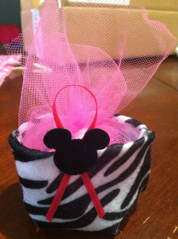 Minnie Mouse zebra party favors 40 ct on Etsy, $20.00