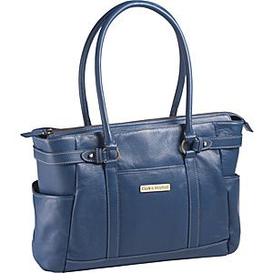 """Buy the Clark & Mayfield Hawthorne Leather 17.3"""" Laptop Handbag at eBags - Perfect for the daily commute or occasional travel, this laptop handbag offers sophisticated style a"""