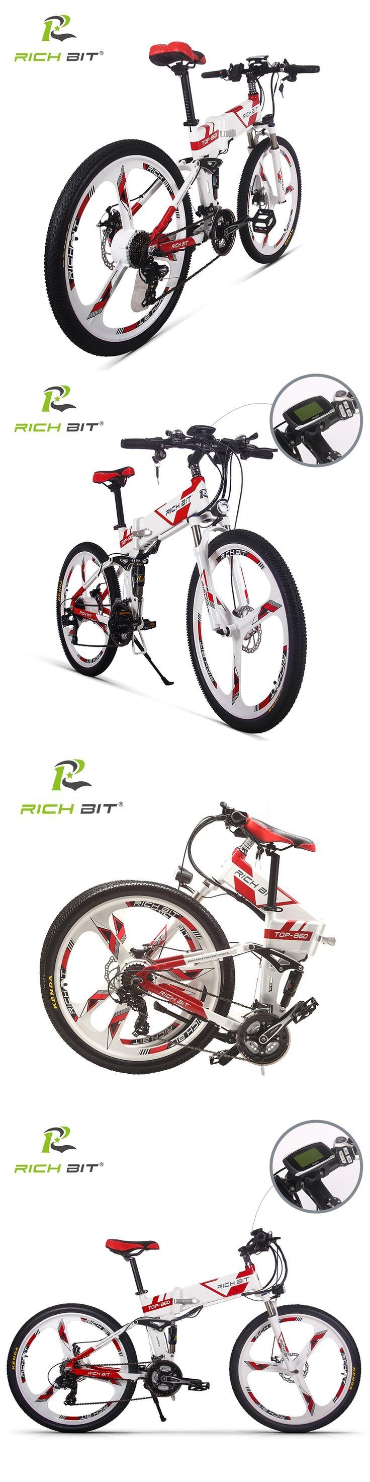 RichBit New 36V*250W Electric Bike Mountain Hybrid MTB Bike Bicycle Cycling Watertight Frame Inside Li-on Battery Folding Ebike