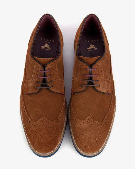 Suede brogues - Tan | Footwear | Ted Baker UK