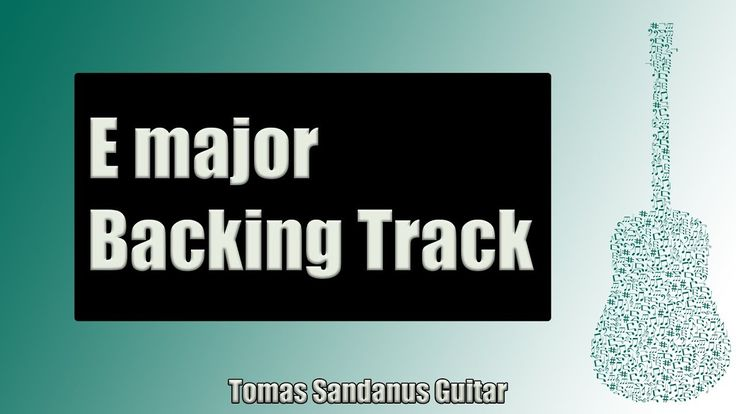 Backing Track in E Major Pop Rock with Chords and E Major Pentatonic Scale