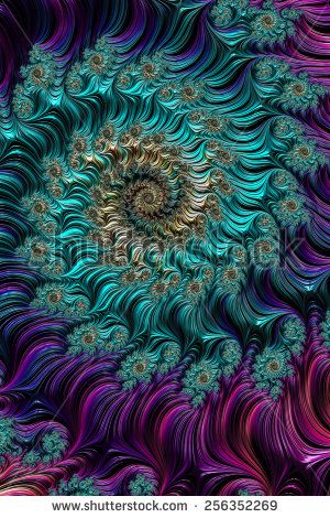 An abstract computer generated fractal design.                                                                                                                                                                                 More