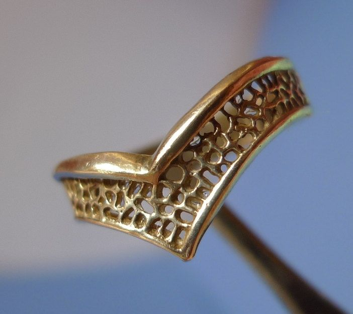 Vintage USSR Soviet Old jewelry Sterling Silver 925 RING openwork - Size 10.5 - 20mm - No stone only metal by ForCollecting on Etsy