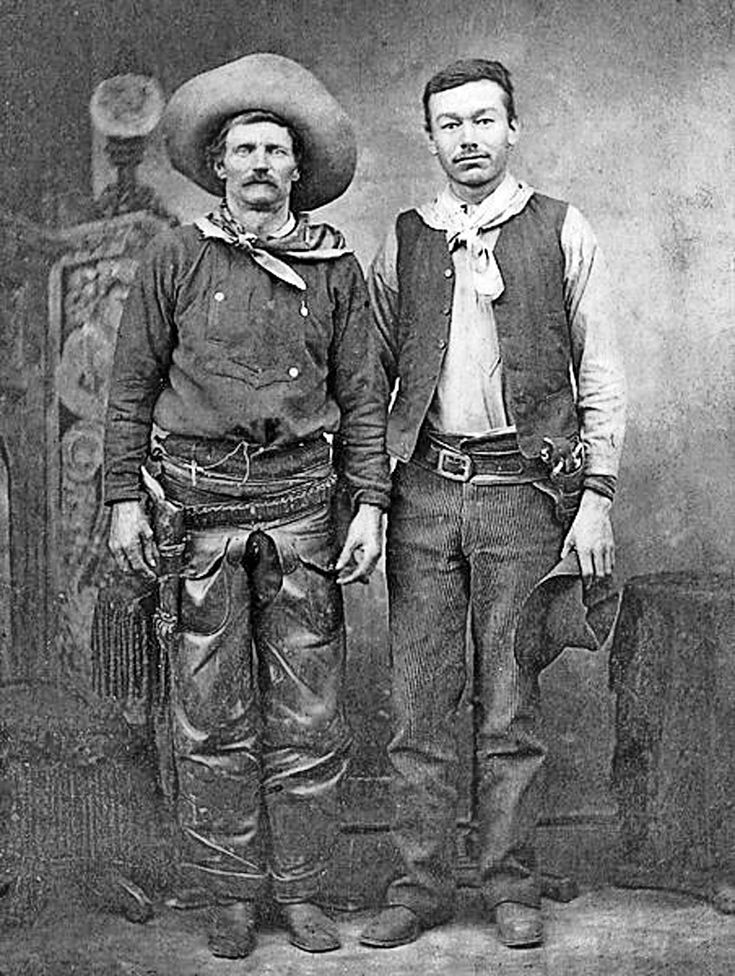 Charley Nebo  Charley Nebo, seen here on the left, arrived in the U.S. from Canada in 1861. And after fighting on the Union side in the Civil War, he worked as a cowboy in New Mexico, where one of his friends was none other than Billy the Kid. No one messed with Nebo. In fact, once he shot a man dead for killing a Mexican boy's dog.