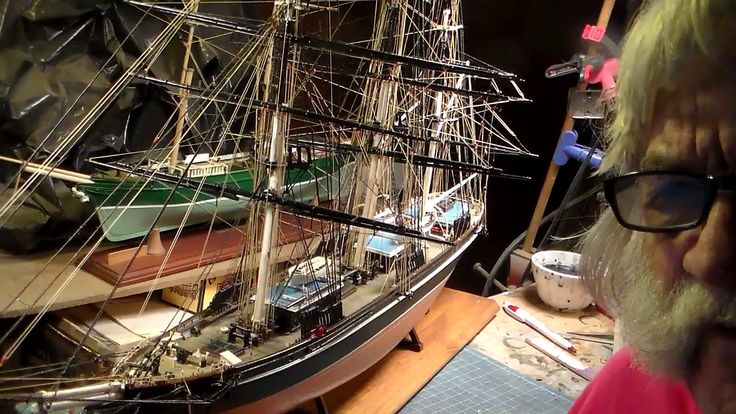 1959 REVELL  CUTTY  SARK  1/96  Finish up Build    Video 2