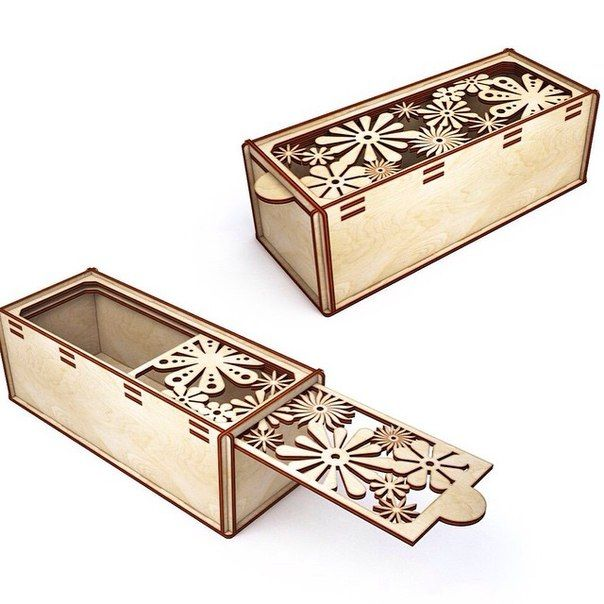 31 best laser cut boxes images on pinterest laser for Laser cut wood box template