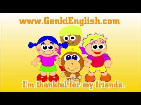 Thanksgiving Song for Kids: What are you thankful for? Genki English