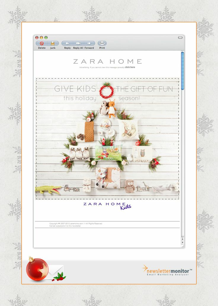 Brand: Zara Home | Subject: This Christmas give them fun! | Sending Date: December 11, 2012