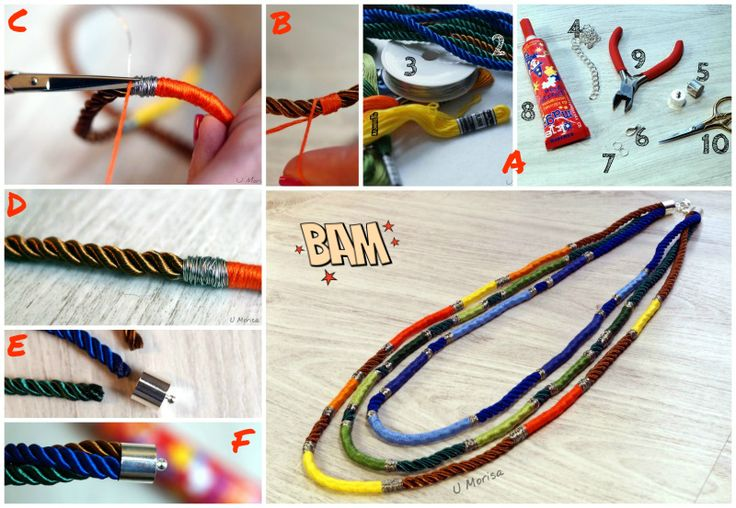 Tutorial - boho necklace #tutorial #diy #handmade #necklace #boho #jewellery #jewelry