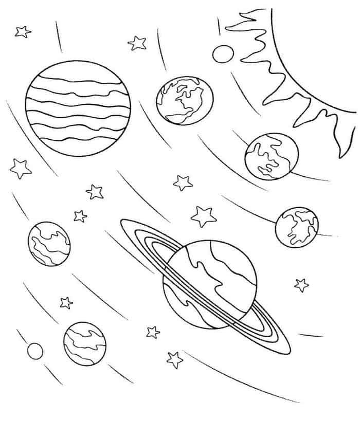 Solar System Planets Coloring Pages For Kids In 2020 Planet Coloring Pages Space Coloring Pages Solar System Coloring Pages