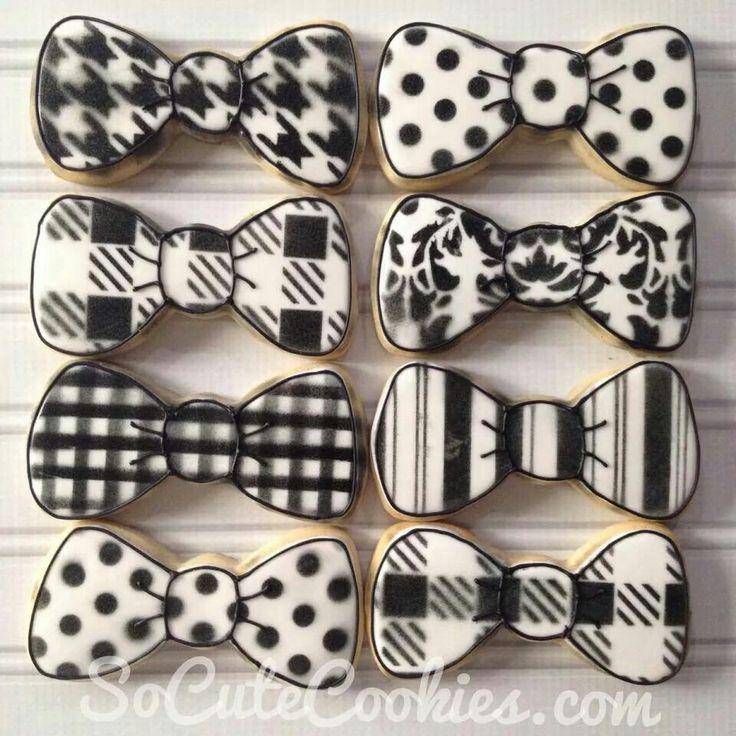 So Cute Cookies: black & white bowties