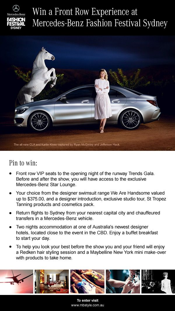 Win a Front Row Experience at Mercedes-Benz Fashion Festival Sydney