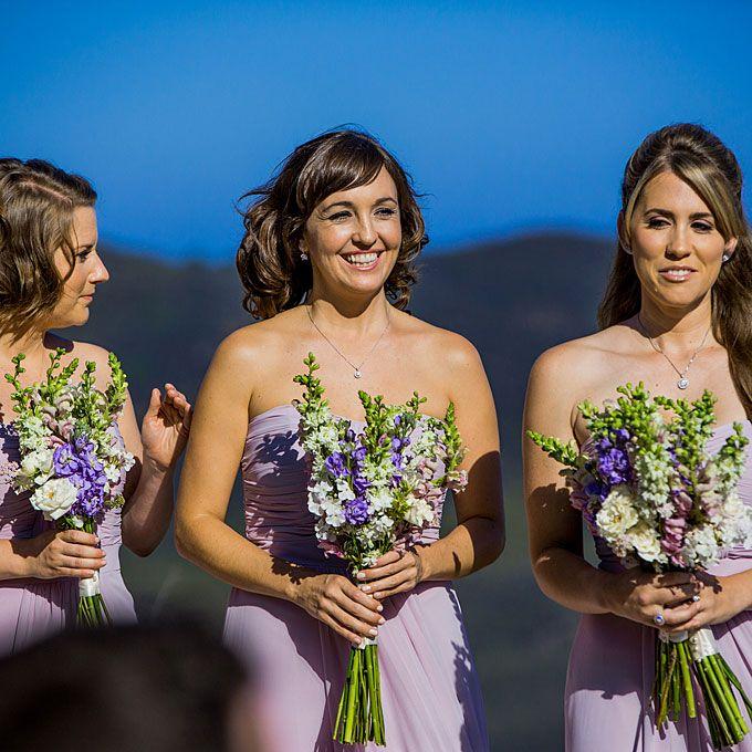 Purple Snapdragon Bridesmaid Bouquets